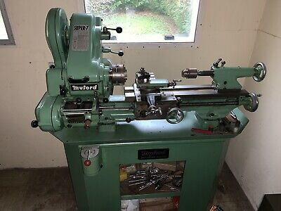 Myford Super 7 Lathe On Stand With Rev Switch • 1,900£