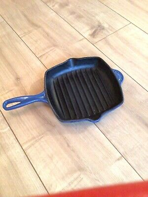 Le Creuset SQUARE Cast Iron Griddle Pan Blue 20cm  • 13£