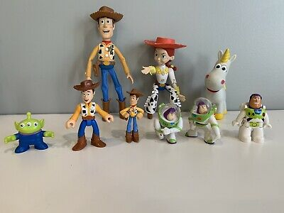 £17.98 • Buy Lot Of 9 Disney Toy Story Woody Jessie Buttercup & Buzz Action Figures