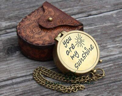 You Are My Sunshine Brass Engraved Compass Christmas Gift  • 15.90£