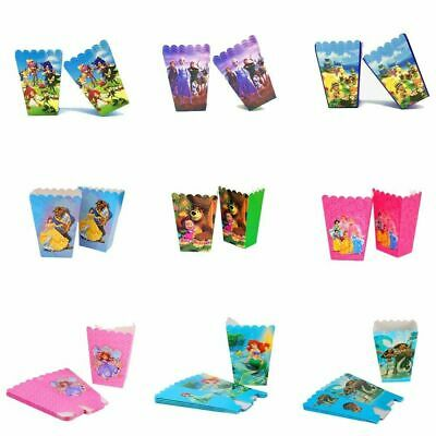 Popcorn Boxes Themed Childrens Kids Birthday Party Favor  Goody Box Filler X 6 • 4.39£