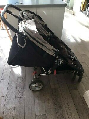 Baby Jogger City Mini Double Pushchair - Black, Used But In Good Condition • 100£