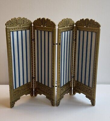 Dolls House Vintage Furniture Oriental 1:12 Privacy Dressing Screen Room Divider • 14.95£
