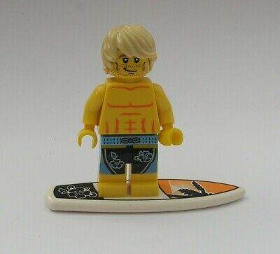 Lego The Surfer & Surfboard  Series 2 Mini Figure • 0.99£