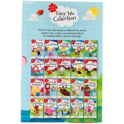 Early Learning Reading With Phonics Fairy Tale Collection 20 Books Set   • 18.32£