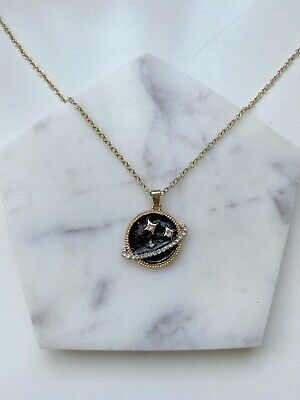 £5 • Buy Black Planet Universe Pendant Metal Gold Long Chain Fashion Young Necklace #197