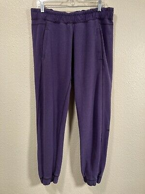 $ CDN6.49 • Buy Lululemon Size 10 Purple Casual Cotton Sweatpants Pants Heathered