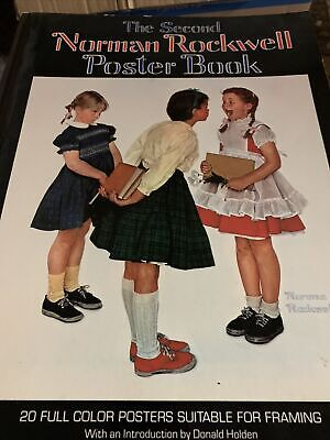 $ CDN5 • Buy The Second Norman Rockwell Poster Book 1977, 4th Printing 1980-Watson-Guptill
