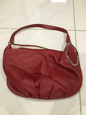 AU20 • Buy Oroton Maroon Leather Handbag In An Excellent Condition