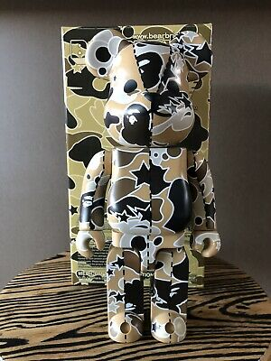 $480.83 • Buy Bape Bearbrick Sand Camo 400% New In Box Medicom 2003 Rare