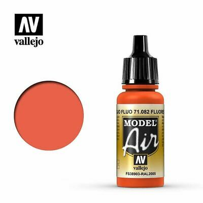 Vallejo Model Air 71.082 Fluorescent Red Acrylic Paint 17ml Bottle • 3.35£