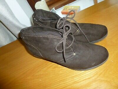 Pavers Ladies Suede Boots Nwob Size 6/39 • 10£