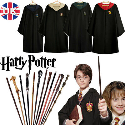 Hermione Magic Wand Harry Potter Cosplay Gryffindor Cloak Fancy Xmas Costume UK • 10.99£