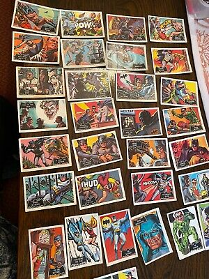 31 X Batman Cards : 1966 National Periodical BAZOOKA BAT MAN TRADING COLLECT • 6.50£