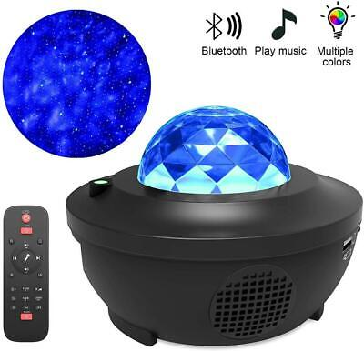 Galaxy Star Night Lamp LED Starry Night Light Ocean Wave Projector With Music HP • 19.99£
