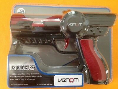 Venom VX Blaster Gun For  PS3/PS4 Move Motion Controller (PS3/VR) New Sealed!! • 17£