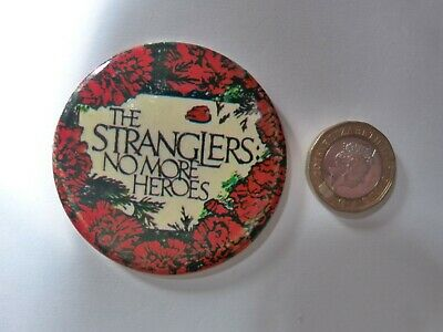 Stranglers - No More Heroes - Button Badge - Genuine Original From 1970's • 5£