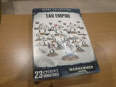 Games Workshop Warhammer Start Collecting Tau Empire USED, 1 Figure Painted! • 33£
