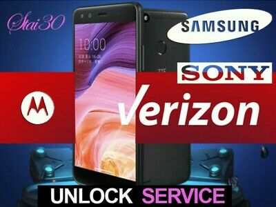 Unlock Code Service For Verizon Phones Nokia LG ZTE Samsung Motorola Alcatel Etc • 3.99£