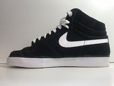 Nike Court Force Mid Black Suede Trainers Size 9 Uk • 31.46£