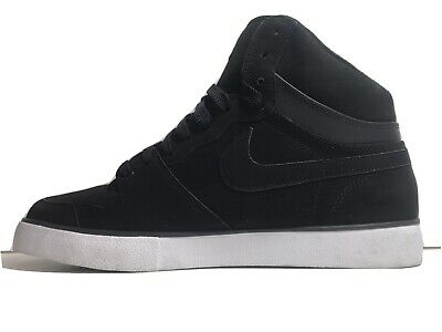 Nike Court Air Force Black Suede Trainers Mid Top Size 9 Uk • 34.95£