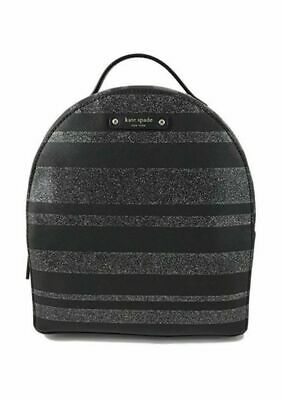 $ CDN135 • Buy Kate Spade Haven Lane Sammi Small Backpack Glitter Stripe Black Silver NWT