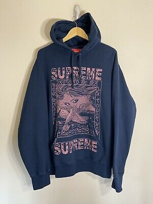 $ CDN259.50 • Buy Supreme Doves Hoodie Fw19 100% Authentic Navy Size Xl