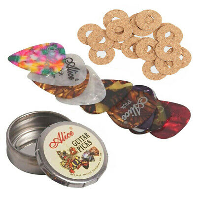 $ CDN11 • Buy Guitar Bass Celluloid Picks Plectrum & Pick Case Metal Tin & Antiskid Picks Grip