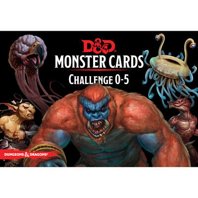 AU43.99 • Buy D&D Spellbook Cards Monster Cards Challenge 0-5 - Dungeons And Dragons