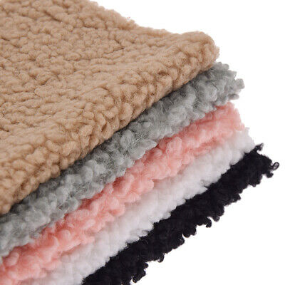 A4 Lamb Wool Fabric Coral Velvet Cotton Plush Soft Warm Doll Clothing Sewing DIY • 1.99£