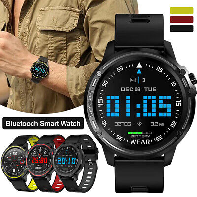 AU55.55 • Buy L8 Smart Watch Bluetooth Heart Rate Monitor Fitness Waterproof For Android IOS