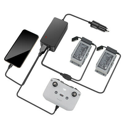 AU33.21 • Buy For DJI Mavic Air 2 Drone Battery Charger Fast Charging Hub Car Charger Adapter