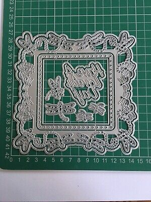 Large 10pcs 'Have A Lovely Day' Dragonfly Themed Doily Die Set Brand New FreeP&P • 10£