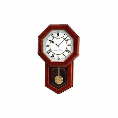£195 • Buy Seiko Oak Wooden Battery Westminster Chime Wall Clock With Pendulum QXH110B