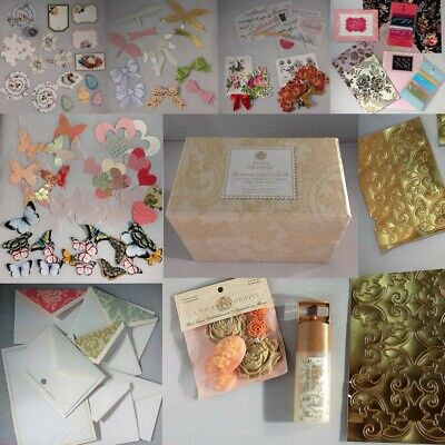 Anna Griffin Card Making Embellishments Bundle - Approx 120 Items In Storage Box • 9.99£