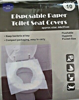 £2.49 • Buy Disposable Toilet Seat Cover Hygienic Flushable Travel Pocket Size Pack Of 10