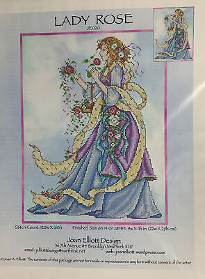 Joan Elliot Cross Stitch Chart Lady Rose • 7.99£