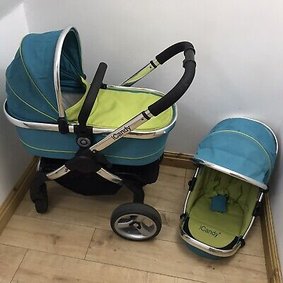 ICandy Peach Two In One Pushchair/Pram/Buggy/  In Sweet Pea • 145£
