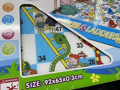 Giant Snakes And Ladders Or Ludo Play Mat Board Traditional Childrens Game Ludo • 11.99£