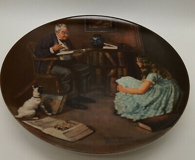 $ CDN6.29 • Buy Historical Norman Rockwell Plate  The Storyteller  By Edwin M Knowles China Co.