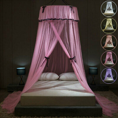 £15.49 • Buy Lace Princess Dome Mosquito Net Mesh Bed Canopy Bedroom Bedding Drape Curtains