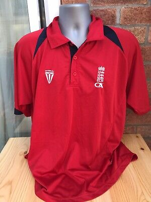 Mens England Cricket Shirt Size L • 5.99£
