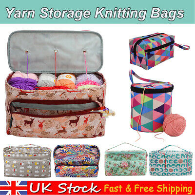 Portable Knitting Tote Bag Wool Crochet Storage Bags Sewing Needles Organizer UK • 6.89£