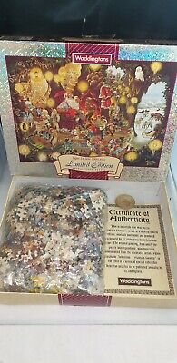 Waddingtons '1996 'Santas Grotto Double Sided 1000 Piece Jigsaw Puzzle Complete • 8.50£