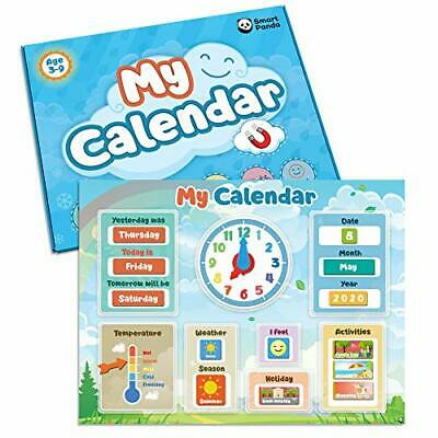 My First Calendar By SmartPanda – Kids Magnetic Educational Toy – For • 27.99£