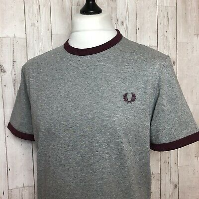 Fred Perry Ringer T-shirt. XL M3519 Steel Marl / New Mod Indie • 29.99£