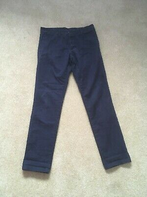 Navy Blue Carhartt Sid Pant Trousers Chinos Zip Fly (32x32) • 20£