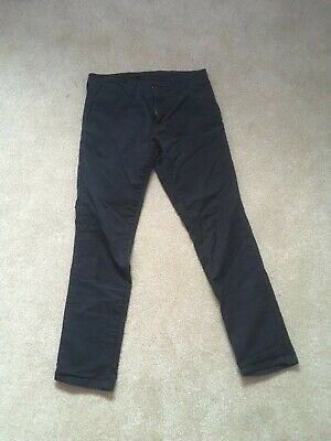 Black Carhartt Sid Pant Trousers Chinos Zip Fly (32x32) • 20£