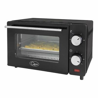 £34.95 • Buy Quest 650W Compact Mini Oven Grill Toaster Tempered Glass Door 9 Litre Capacity