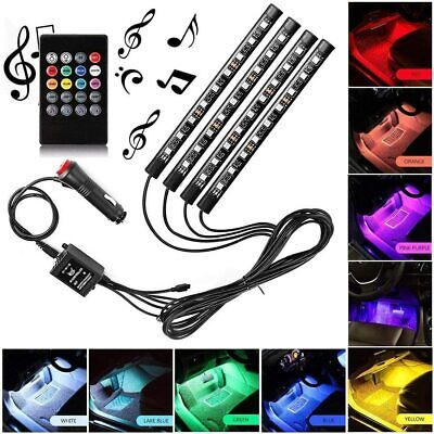 AU14.99 • Buy 36LED RGB Car Interior LED Strip Lights Wireless Remote Control Music 12V